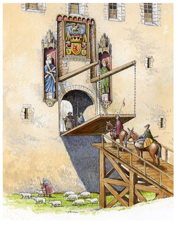 Linlithgow Palace drawbridge reconstruction