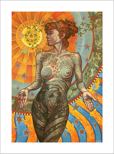The TATTOOED LADY Signed Limited Edition Giclee Print