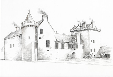 Edzell Castle reconstruction