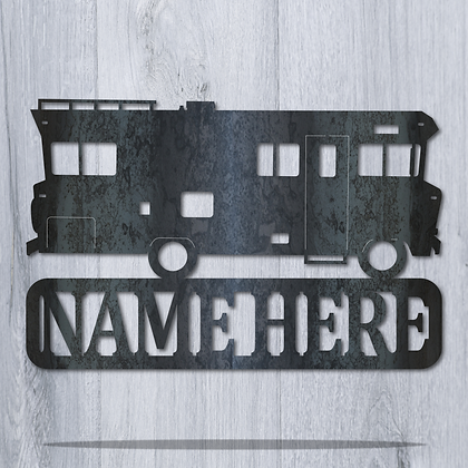 Winnebago Custom Name Plaque Sign
