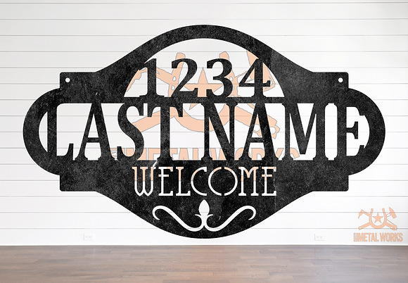 Welcome Address Sign with Name