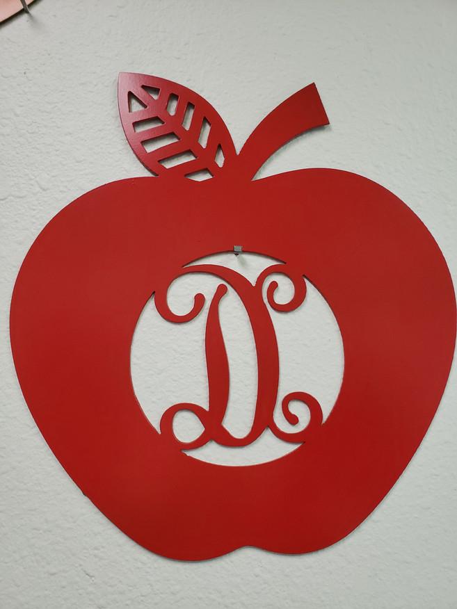 Monogram Apple Teacher Gift