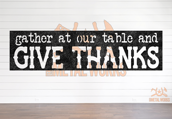 Gather at our Table and Give Thanks
