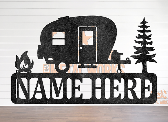 Camper Custom Name Plaque Sign