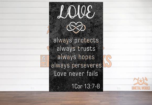 1 Corinthians 13 7-8