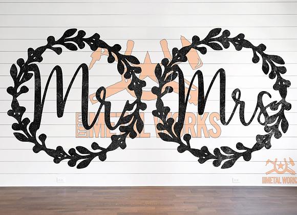 Mr. & Mrs. Wreath Set