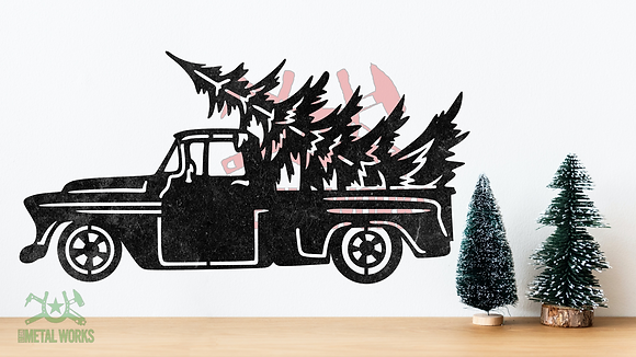 Christmas Truck with Tree