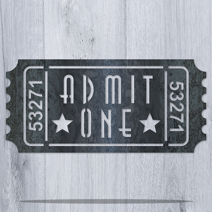 Admit One Single Ticket