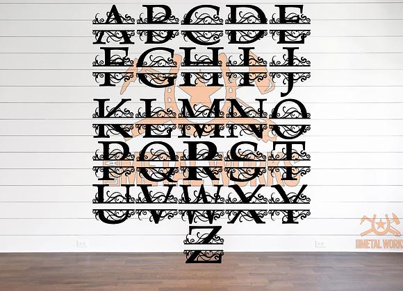 Scrolly Split Monogram