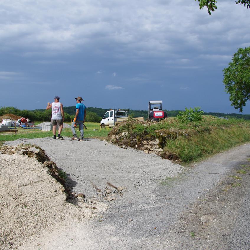 Terrassement acces terrain