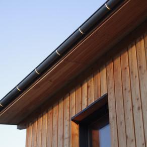 Pose des sous face débords de toiture