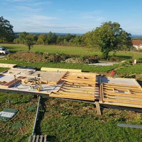 Fabrication panneaux de mur ossature bois