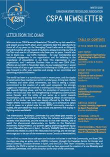 CSPA Newsletter | Infolettre de l'ACPS
