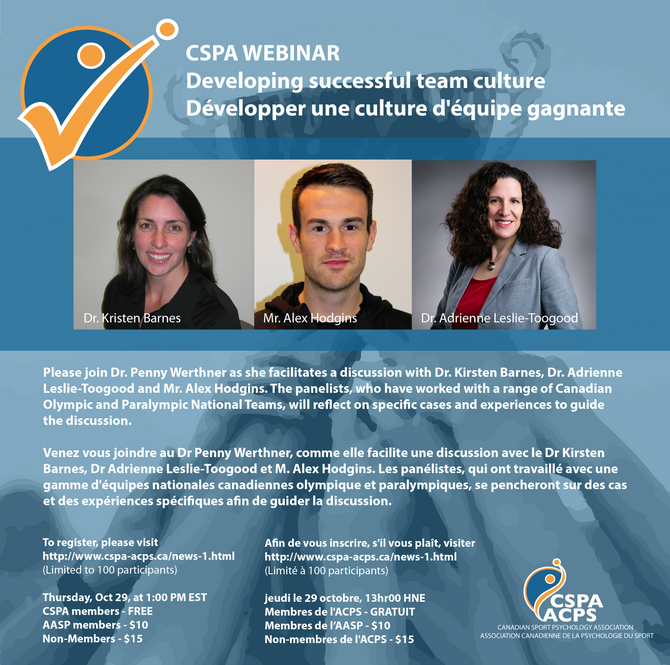 CSPA Webinar #4: Developing successful team culture
