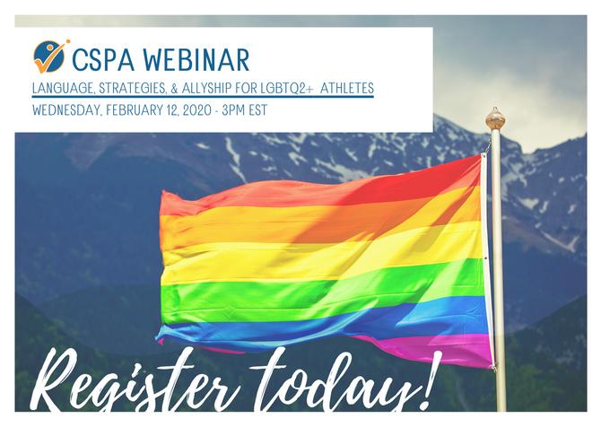 Webinar - Language, Strategies & Allyship for LGBTQ2+ Athletes |  Webinaire - Communication &amp