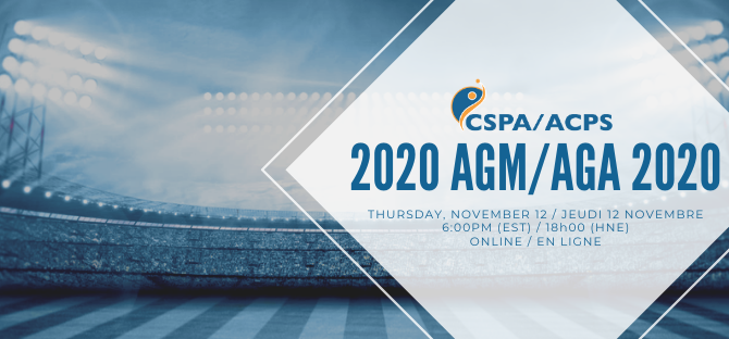 2020 CSPA AGM | AGA de l'ACPS 2020