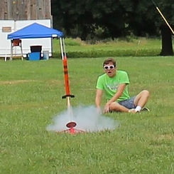 Staff launching rocket