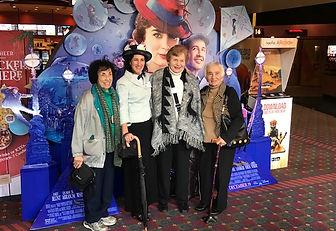 seniors enjoying Movie Day