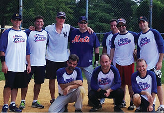 Mens softball team photo