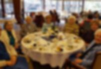 senior citizens at hanukkah party