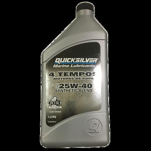 Óleo 25W-40 Quicksilver Sintetico - 1L