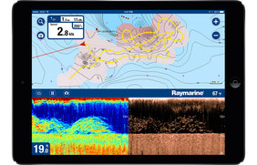 Quadro batimétrico do aplicativo Navionics Boatig