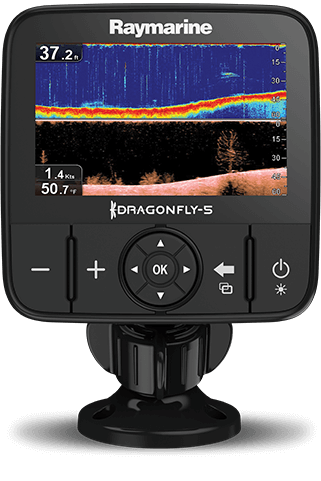 Imagem do GPS e Sonda DragonFly 5PRO Raymarine