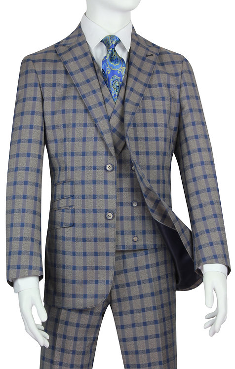 PV-4013PLAID GRAY WITH BLUE