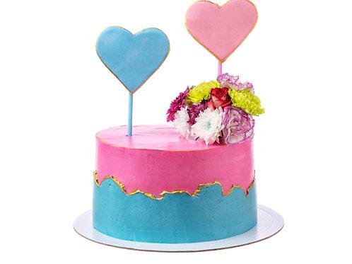 Happy Hearts Cake