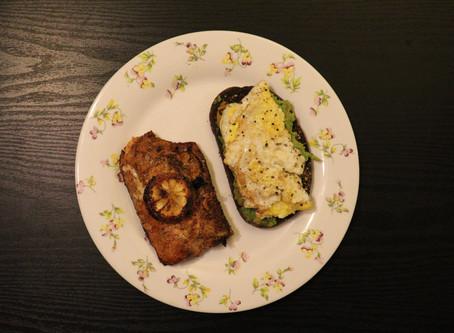 Cajun Garlic Butter Salmon & Smashed Avocado Toast