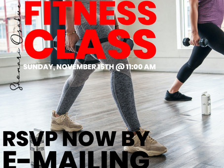 R.S.V.P. Now - Zoom Fitness Class