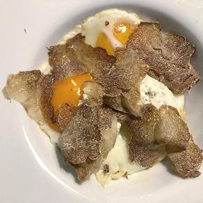 Recipe / Egg, white truffle, pumpkin and ricotta