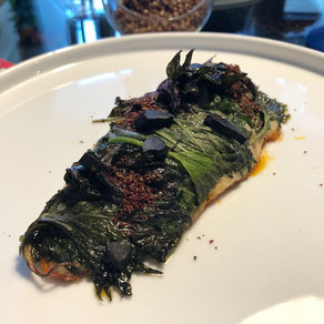Recipe   The two islands: red mullet, shiso leaves, Ustica lentils, soba tea