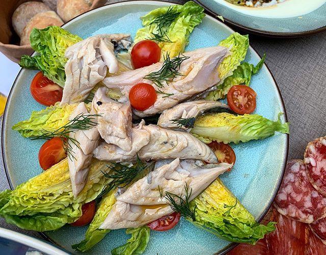 Marinated mackerel, dill