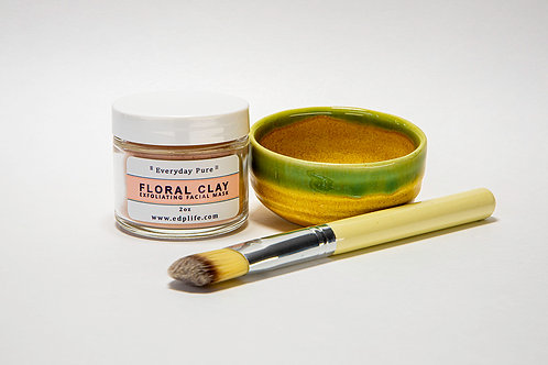 Floral Clay Facial Set