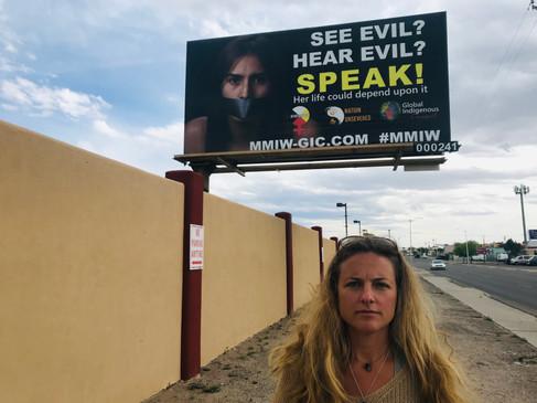 Billboard Raised in Albuquerque, NM