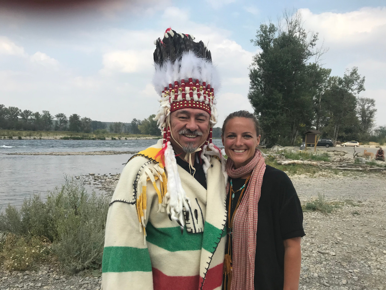 w/ Chief Stan Grier of the Pikanni Nation