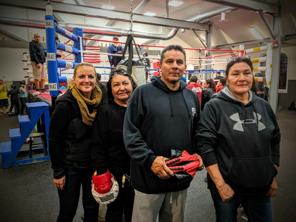 w/ J.R. Garcia at his Boxing Gym
