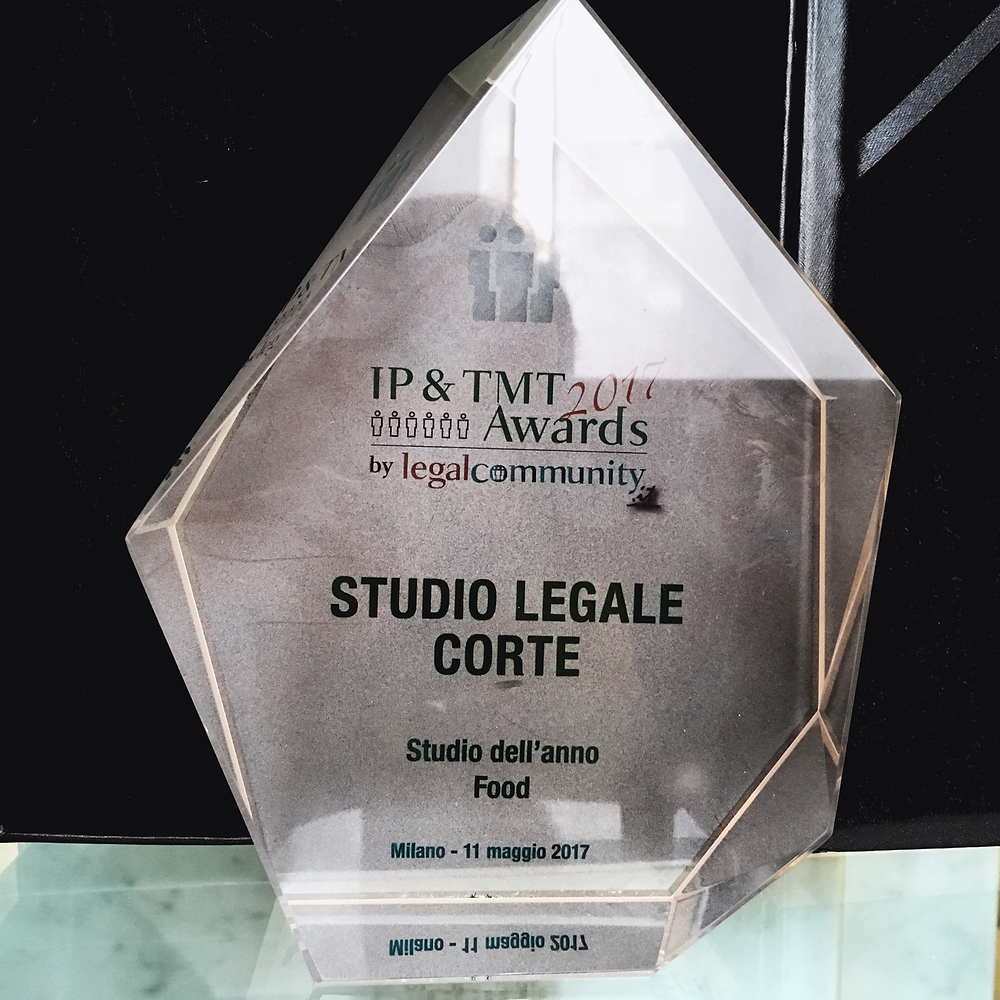 Studio Legale Corte, miglior studio legale food, legalcommunity awards, diritto alimentare, food law, best food law firm