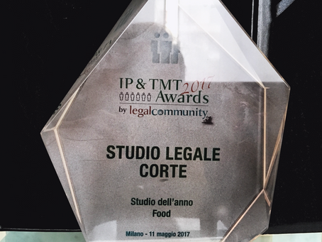 Legalcommunity awards: Studio Legale Corte è lo Studio dell'anno FOOD.