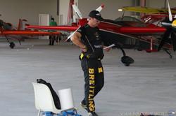 F. Fornabaio in hangar