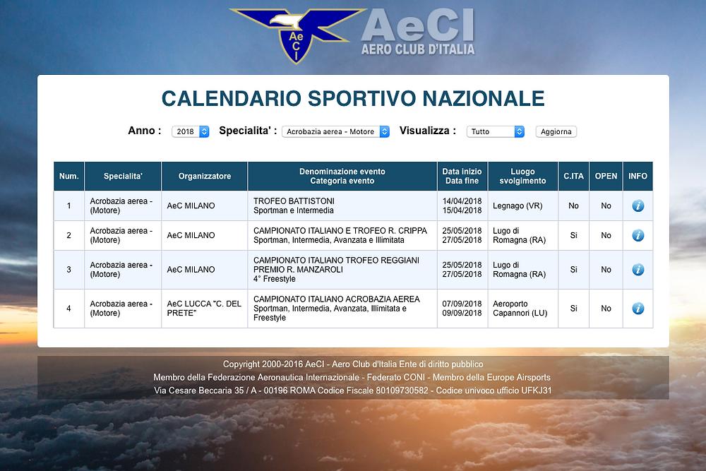 date, calendario, campionato italiano acrobazia a motore