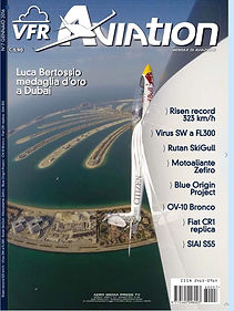 Copertina VFR Aviation, gennaio 2016, volo acrobatico, Luca Bertossio, Dubai, WAG