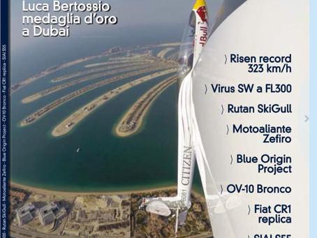volo acrobatico: La vittoria di Luca Bertossio in copertina su VFR Aviation