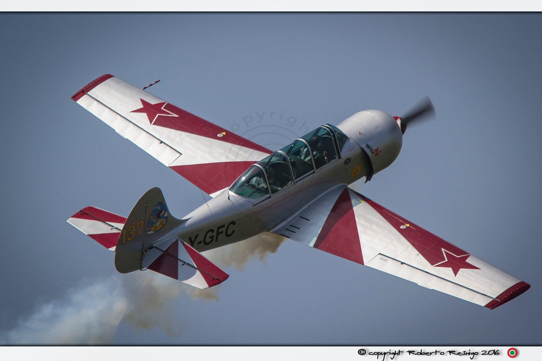 YAK 52, pilota G. Caprai