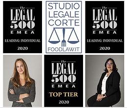 """Legal500 classifica Studio Legale Corte """"Top Tier"""" ed Elena e Paola Corte """"leading individuals"""""""
