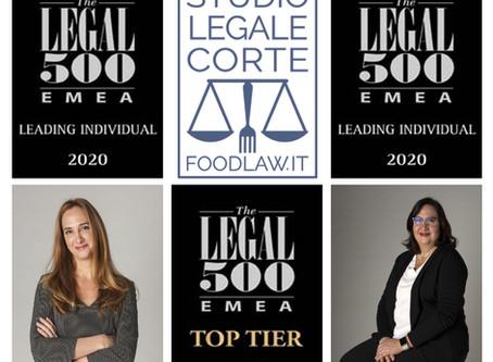 Legal500 indica Studio Legale Corte come Top Tier ed Elena Corte e Paola Corte leading individuals