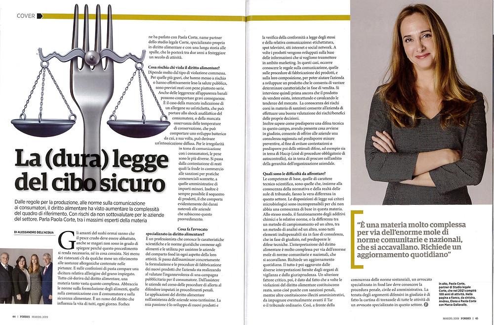 Intervista a Paola Corte su Forbes