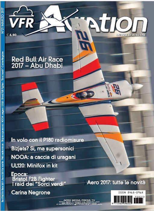 VFR Aviation copertina marzo, Juan Velarde, Red Bull Air Race, volo acrobatico