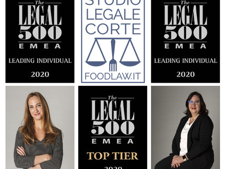 Legal500 Industry focus: food- Studio Legale Corte is Top Tier,   P. & E. Corte leading individuals